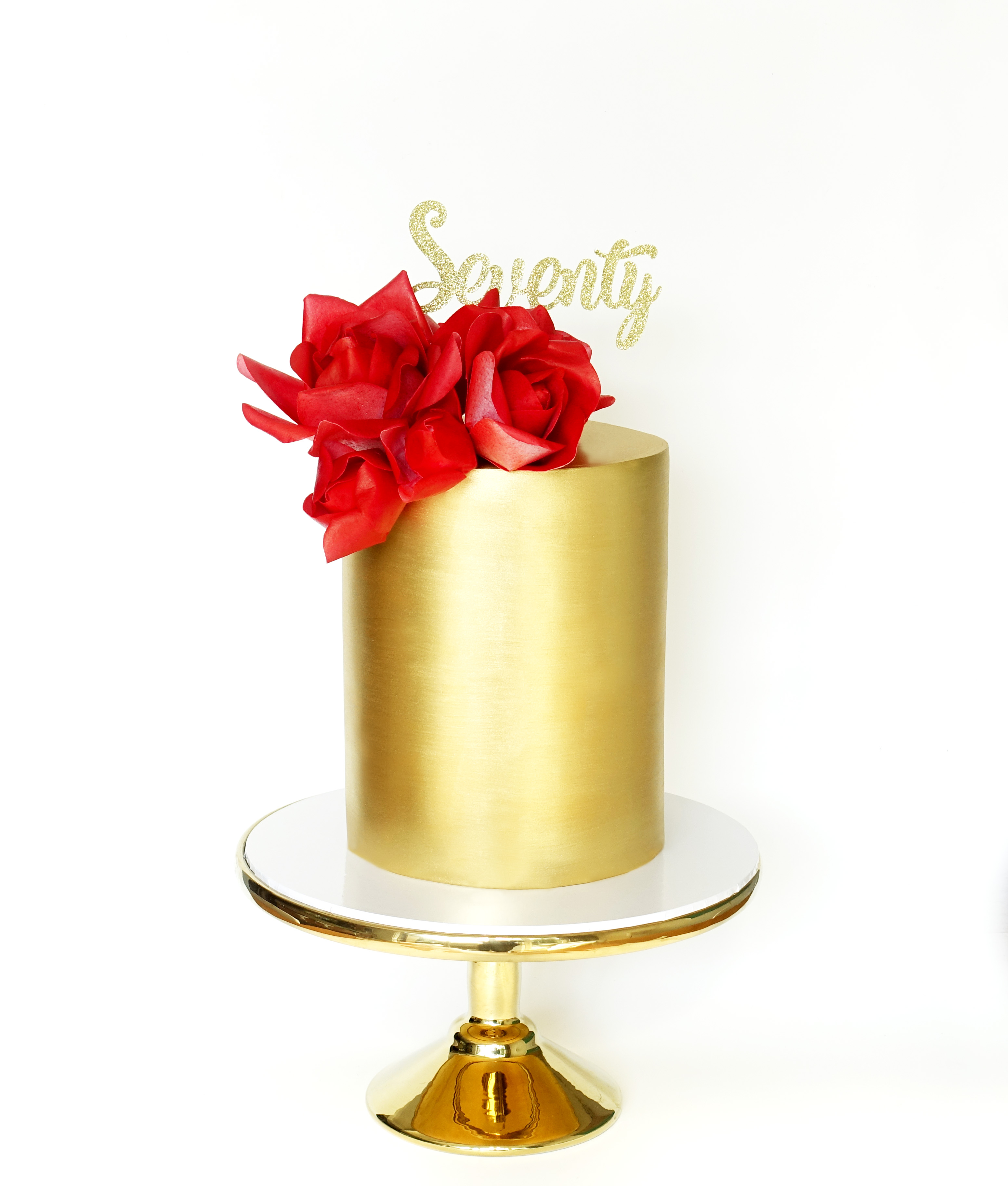 Gold Birthday Cake Archives