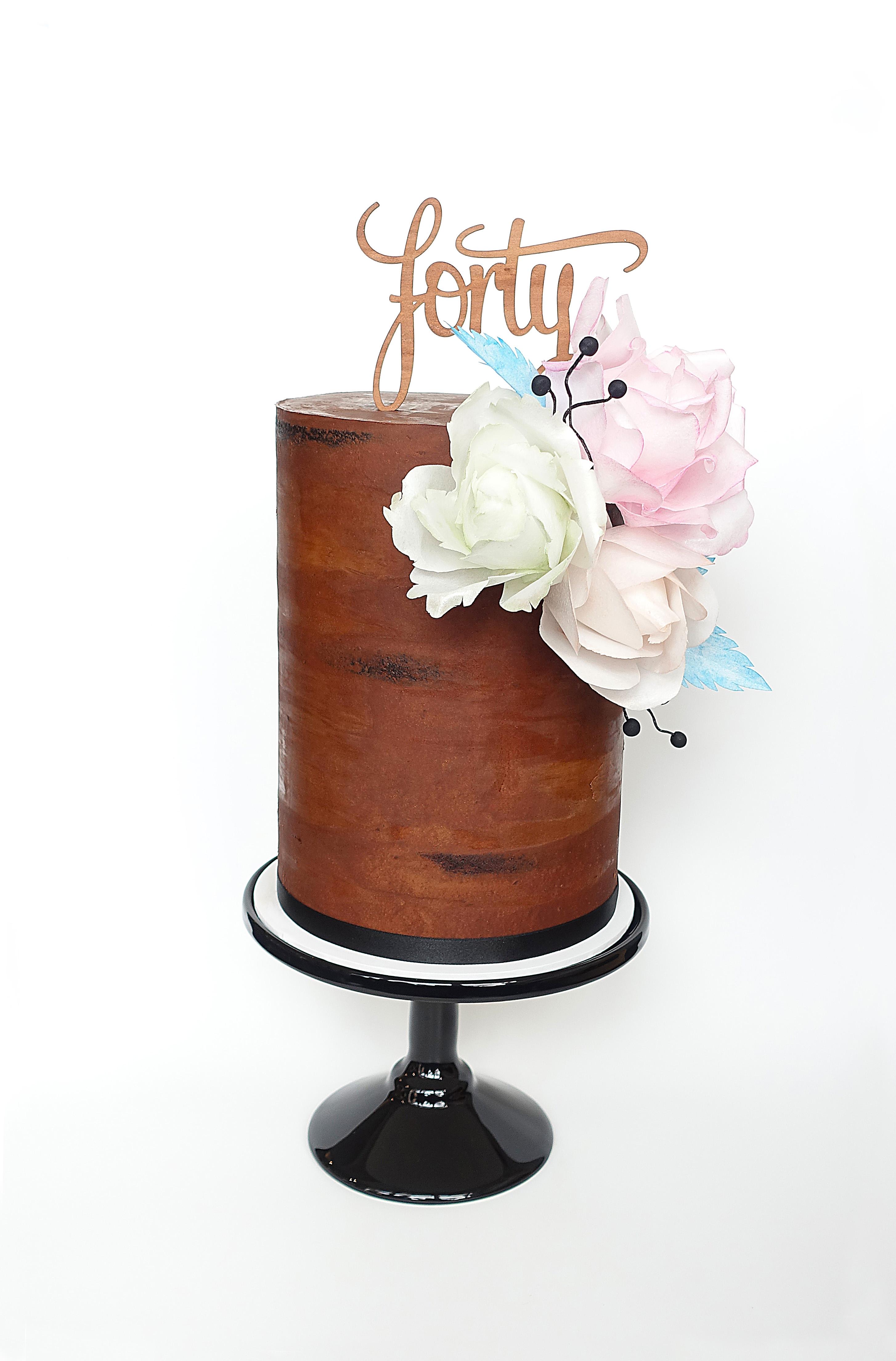 Chocolate 40th Birthday Cake Modern Cake Design